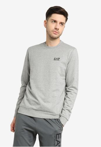 EA7 grey Train Core Id Sweatshirt 7E316AA9C1F889GS_1