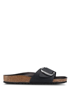 0a91984adc6 Birkenstock black Madrid Big Buckle Sandals 344FDSH5CC7363GS 1