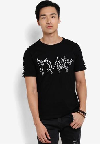 Flesh IMP black Flaming FLMP T-Shirt FL064AA16VVVMY_1
