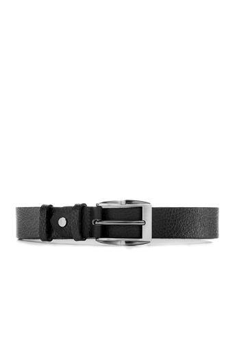 Life8 black Formal & casual leather belt-05269-Black LI283AC0GQHMSG_1