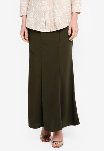 BYN green Long Maxi Skirt B882AAA2CBD0DDGS_1