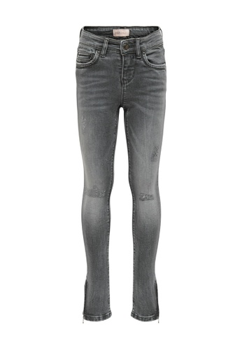 ONLY grey Kendel Grey Zip Ankle Jeans 8CD70KA0CDFC9BGS_1
