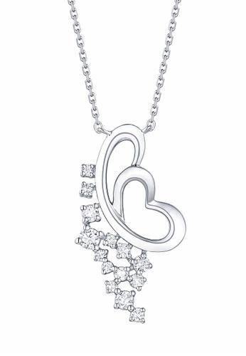 Smiling Rocks white 10K White Gold 0.22ct Lab Grown Diamond Drizzle Necklace 8C559AC0968B60GS_1