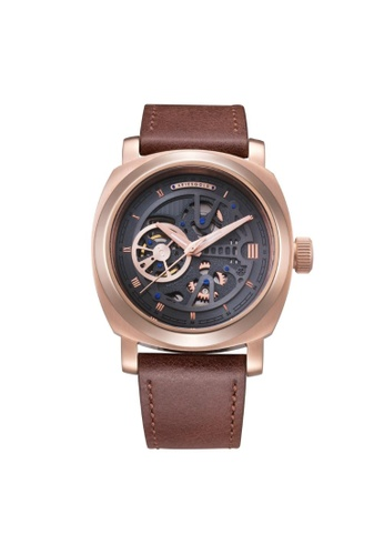Aries Gold brown Aries Gold Vanguard G 9025 RG-GYRG Rose Gold and Brown Leather Watch 2BCCBAC0163F2EGS_1