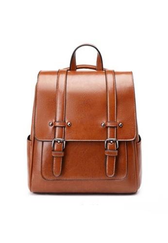 Twenty Eight Shoes brown VANSA Vintage Burnished Cow Leather Backpacks VBW-Bp3322 BF68BACF559F48GS_1