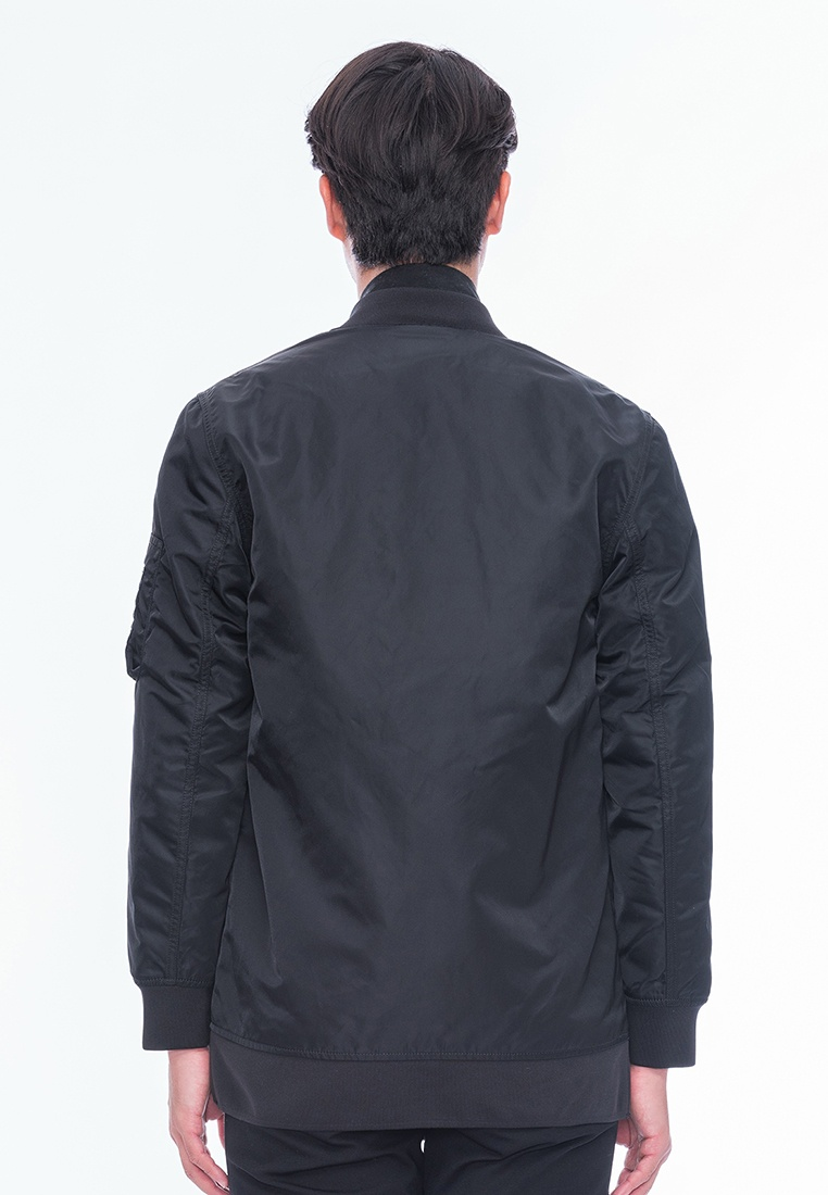 Alik Style Long Bomber Alpha up Black Zip qWqzrp7