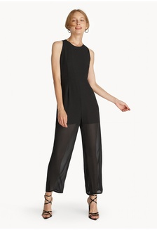 826567d353 Crew Neck Sleeveless Jumpsuit - Black AD0FCAACD94965GS 1