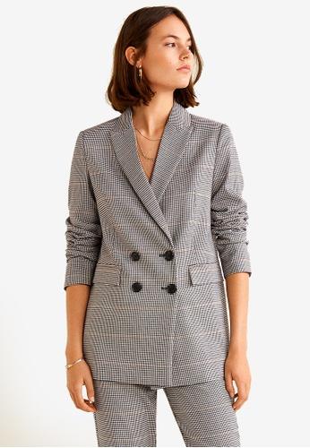 MANGO multi Houndstooth Suit Blazer ED30BAA916053AGS_1
