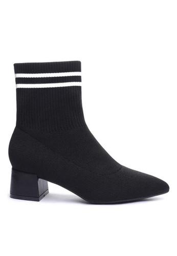 Twenty Eight Shoes black Socking Ankle Boots 1268-3 01D42SH089D945GS_1