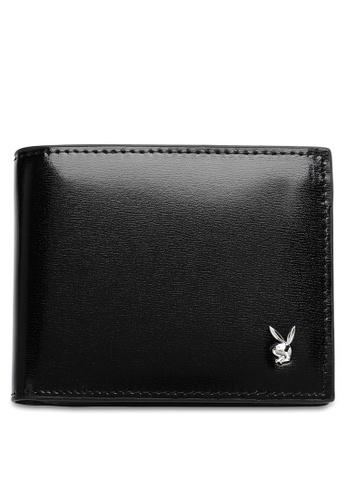 Playboy black Men's Bi Fold Wallet B86A7ACB3EB146GS_1