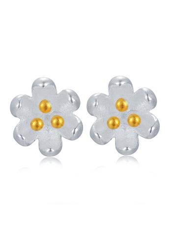 MBLife silver 925 Sterling Silver Flower Earrings D2D92ACB699700GS_1