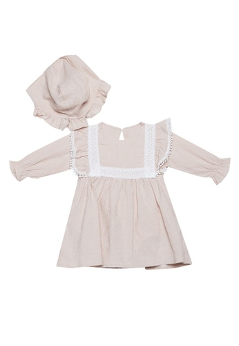 RAISING LITTLE beige Dalia Dress Set 176DDKACDCFCC4GS_1