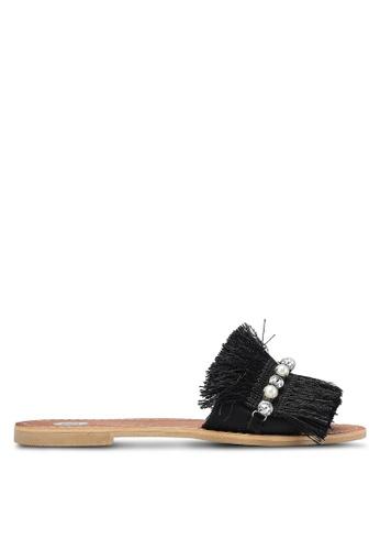 River Island black Fringe Sandals RI009SH0RHPEMY_1