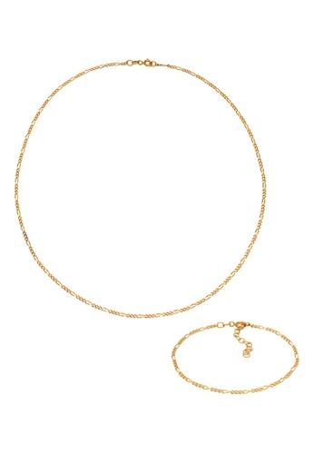ELLI GERMANY gold Figaro Basic Gold Plated Jewelry Set AC755ACA7039B1GS_1