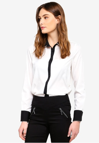 Vero Moda white Nicky Colorblock Midi Shirt 8F786AAC3F6591GS_1