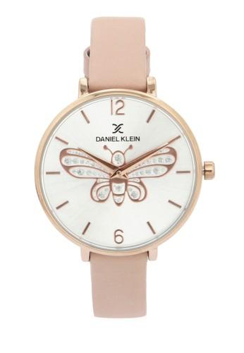 Daniel Klein pink Jam Tangan Wanita DK11813-2 Genuine Leather F892AAC427D8DCGS_1