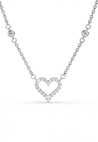 Her Jewellery white Her Jewellery Kindle Love Pendant (White Gold) with Necklace Chain with 18K Gold Plated HE210AC0FSQXSG_1