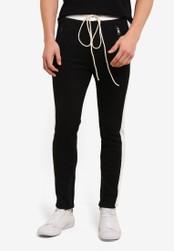 Flesh IMP black Pocket Zipper Yondu Jogger Pants FL064AA0S5U2MY_1