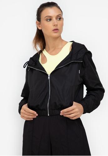 ZALORA ACTIVE black Hooded Windbreaker Jacket 1E634AA9910778GS_1