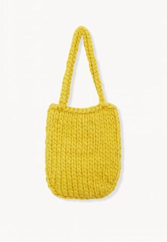 Pomelo yellow Crochet Shoulder Bag - Yellow A9627AC3B74E03GS_1