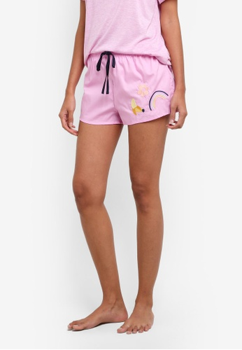 Cotton On Body pink Bedtime Shorts CO561AA0S9ETMY_1