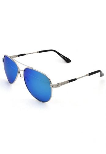 jojo silver Iconic Side Aviator Polarized Sunglasses 72F8DGL7878121GS_1