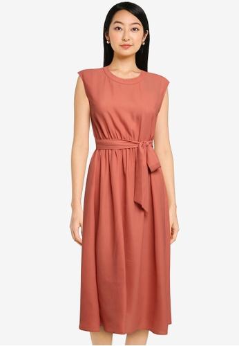 ZALORA BASICS pink Open Back Midi Dress 29D16AA0545946GS_1