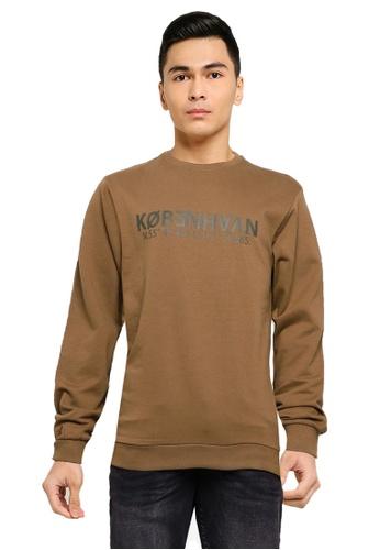 !Solid brown Mark Organic Sweatshirt B7888AAC5AD69EGS_1