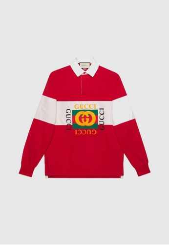 release date best quality outlet on sale GUCCI OVERSIZE LOGO POLO SHIRT