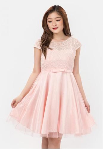 The Pink Label pink Mesh Tulle Mini Dress CD33CAAE36B3B7GS_1