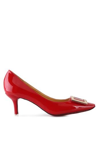 Mandy's Duchess Red Glossy Heels