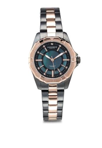 Akribos XXIV grey Crystal Diver Style Watch 22CDAAC2C7790FGS_1