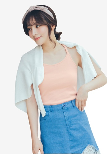 Tokichoi pink Braided Strap Cross-Back Top 07D96AAD3A03F5GS_1