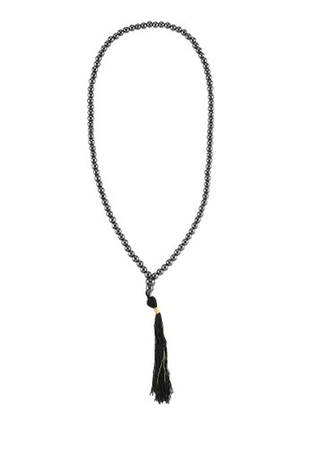 SHALIMAR black Beads Abustin Stone 99 Tasbih SH713AA84CMDID_1