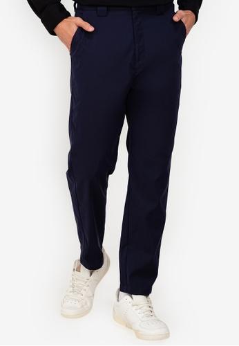 ZALORA BASICS navy Classic Chino Pants AAFDFAA553E6E8GS_1