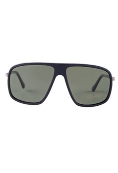 Tom Ford  TOM FORD Quentin Square Black Polarized Sunglasses TF463