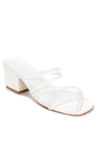 Janylin white Strappy Heeled Slides DF365SHB0E258EGS_1