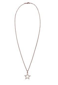 【ZALORA】 Elli Germany 項鍊 Star Swarovski Crystals 925 銀 玫瑰金 Plated