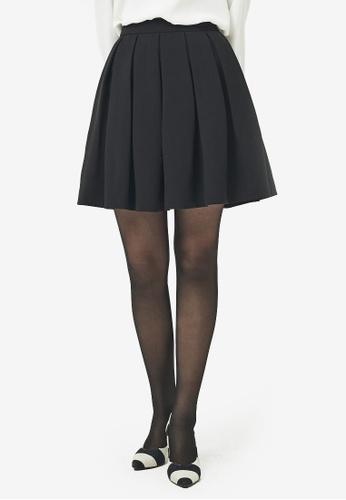 NAIN black Pleated Skirt 580B1AACEB34F1GS_1