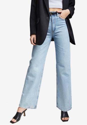 H&M blue Wide High Jeans 1CEFFAAE211ED2GS_1