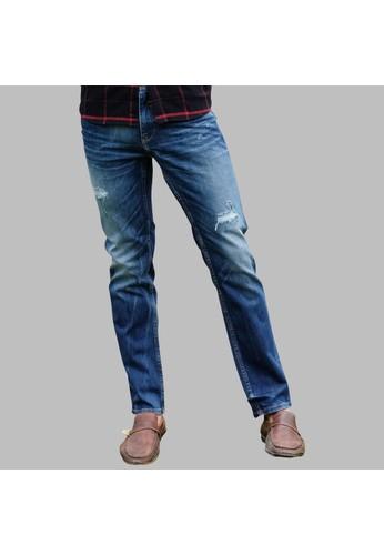 SCOTCH&CO SCOTCHCO Celana Panjang Pria Denim Jordy Slim Jeans Medium Wash Sobek Biru Wash 23896-32325 56AF4AA9CD3D38GS_1