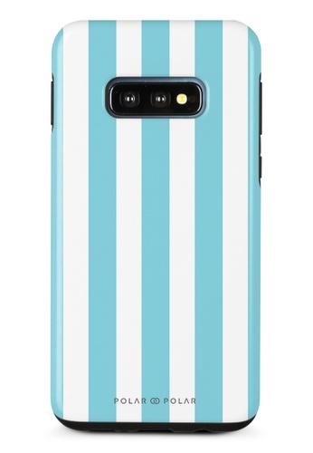 Polar Polar blue Baby Blue Stripe Samsung Galaxy S10E Dual-Layer Protective Phone Case (Glossy) C5BC3AC6070F71GS_1