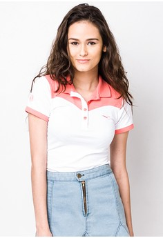 Cut And Sew Polo Tee