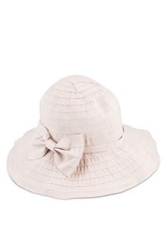 蝴蝶結折疊式UV 防曬圓頂帽