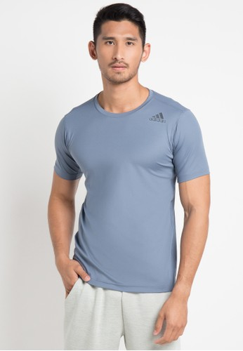 adidas blue adidas freelift climalite fitted tee B3897AAC464810GS_1