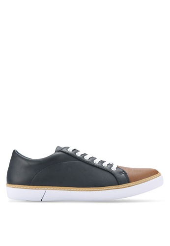 ZALORA navy Casual Duo Tone Laced Up Sneakers 5E5BESH0422E3BGS_1