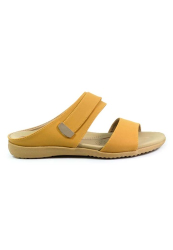 BNC yellow and gold Slide Sandals C3A57SHA1079CDGS_1