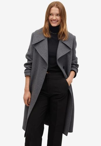 Mango grey Wool Double-Breasted Coat 316FFAAD506801GS_1