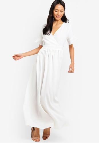 0f796f397b0 Buy ZALORA Wrap Maxi Dress Online on ZALORA Singapore