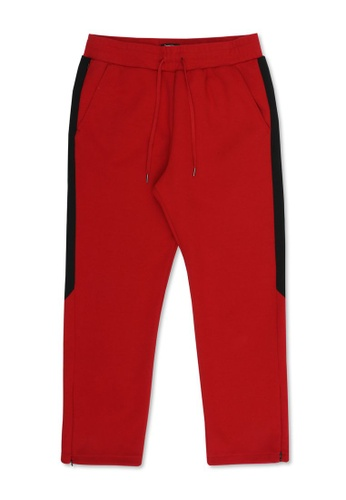 izzue red Drawstring track pants 4E255AAAB8A4ADGS_1